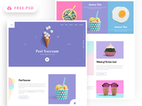 Icecream Landing Page