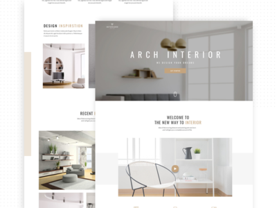 InteriorX Interior Website Design simlpe minimal architect kickstarter interior page clean langing page interior