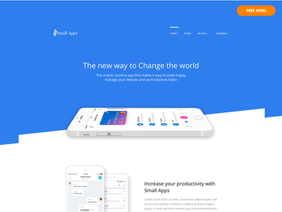 Small Apps Free App/SAAS/Startup Website Template clean minimal-design saas-landing-page landing-page app-landing-page html free