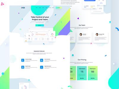 Dtox SAAS/App Landing page