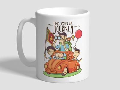 Mug Design illustration travel vector vector artwork mug mockup mug design illustrator mug