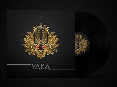 Gold Mask Line Art Album Cover Design hiphop artist music album albumartwork graphicdesign albumcoverart coverart albumart albumcover