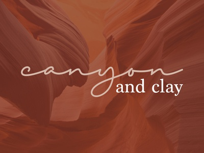 Canyon and Clay brand branding design brand identity design typography logo mark handwritten handwritten logo script orange logo home decor clay canyon branding logo design