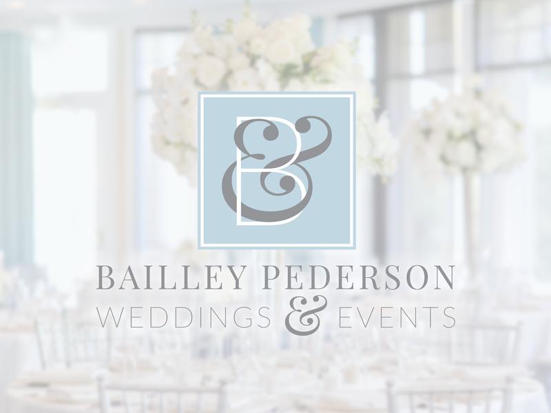 Bailley Pederson Weddings & Events typography ampersands ampersand events wedding event planner wedding planner logo branding