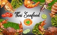 Thai Seafood -vector illustration