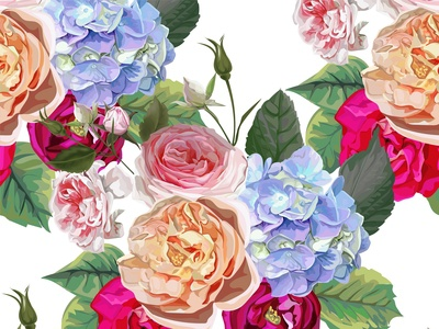 Flower seamless pattern - vector