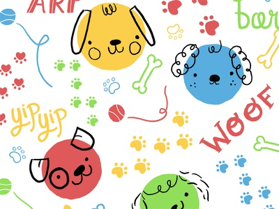 Puppy Pattern dog puppy cute kids