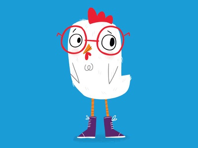Chicken character design illustration chicken