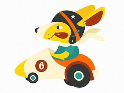 Corgi in a Car corgi car illustration silly