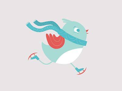 Skating Bird