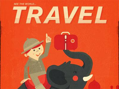 Elephant with Luggage