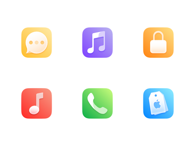 Icons for an iOS icon pack #1
