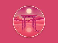 Japan landscape badge #3 : The Torii