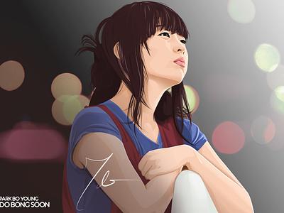 Park Bo Young vexel art korean park bo young do bong soon strong woman