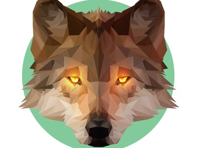 Low Poly Alpha Wolf