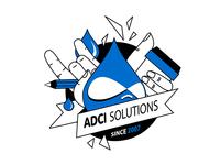 Signature stickers design for ADCI Solutions
