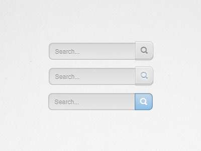 Search Box ui hover active search serch box interface design navigation buttons