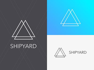 Shipyard Logo shipyard sail ocean brandmark vector logo