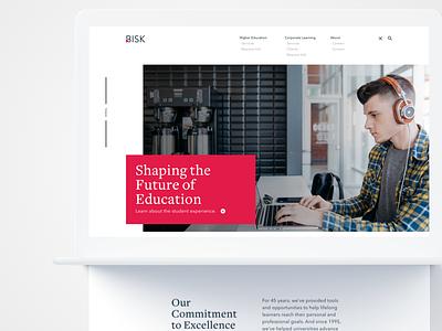 Bisk Site Design web design flat clean minimal website layout site navigation bootstrap typography