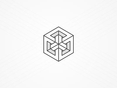 Flux Logo content publishing cms icon geometric cube logo brandmark brand