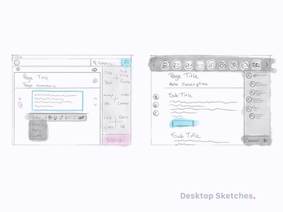 Flux Sketches app software interface ideation design sprint sketch ux ui