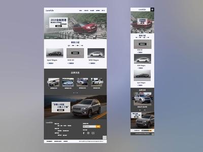 Responsive web design| Car websitee