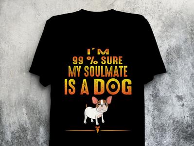 Creative DOG T-shirt design.