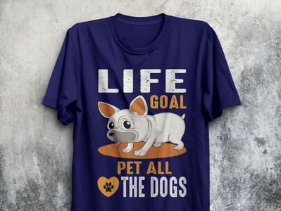 Dog T-shirt design.