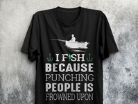 CREATIVE FISHING T-SHIRT DESIGN.