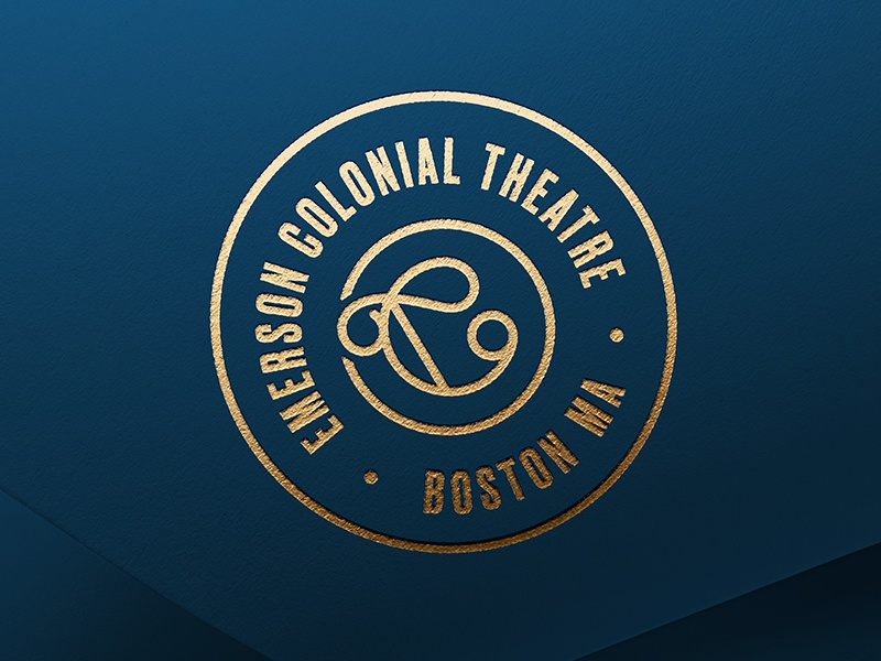 Emerson Colonial Theatre Icon boston branddesign design theatre emerson icon identity branding