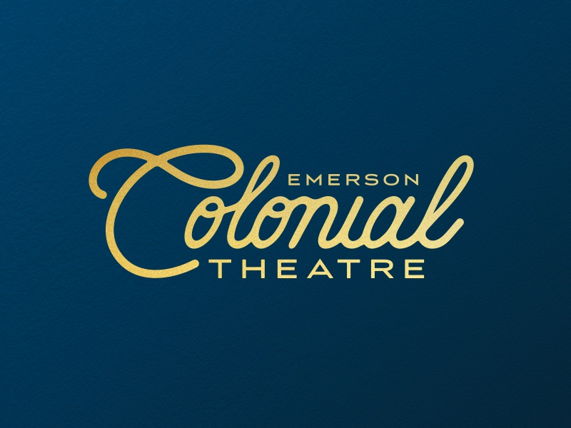 Emerson Colonial Theatre Identity boston branddesign design theatre emerson logo identity branding