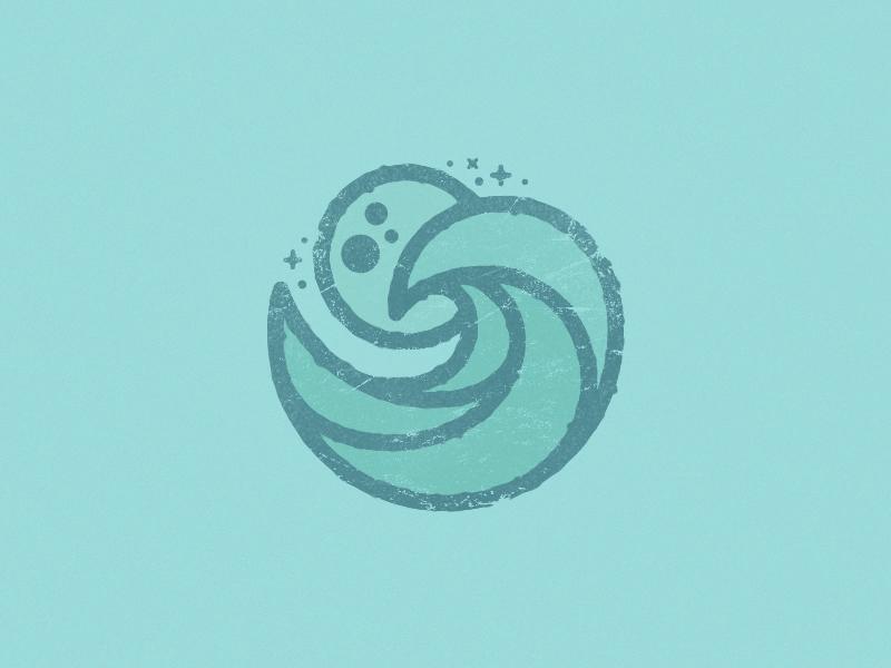 Tides nature tides water waves moon spot badge badgedesign design vector drawing illustration