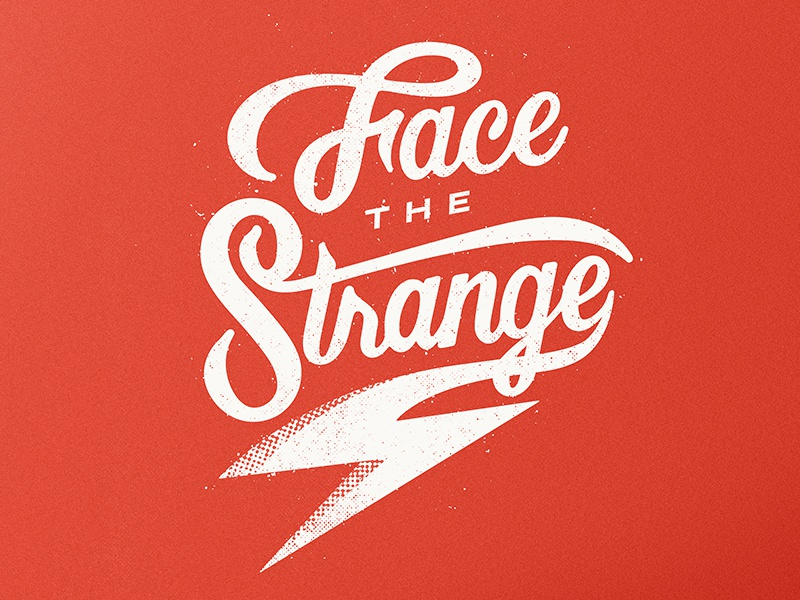 Face The Strange inspiration typist typo davidbowie bowie drawing lettering type script typography
