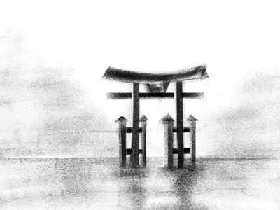 Japan - Selected shots from 36 Days of type 2020 monuments digital art japan 36 days of type illustration