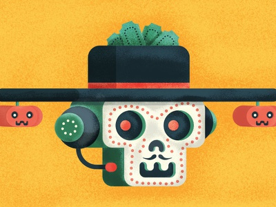 Treating Tricky Customers 😉 dia de los muertos editorial freshworks illustration blog customer support halloween dia de la muerte
