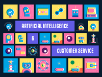 Infographics on Artificial Intelligence & Customer Service