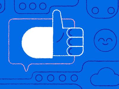 Deliver Stellar Facebook Support freshworks freshdesk illustration editorial helpdesk customer support multichannel facebook