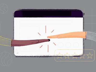 Why Your Business Needs A Customer Portal Software editorial illustration freshworks freshdesk customer support helpdesk customer support portal illustration