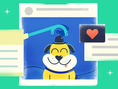 Why Awesome Customer Service Stories Go Viral freshworks helpdesk freshdesk blog editorial illustration customer support viral social media customer service illustration