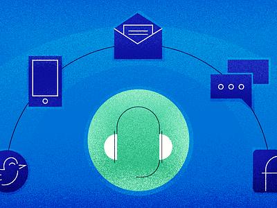 Importance of an Omnichannel Approach customer service helpdesk omnichannel illustrator customer support blog freshworks freshdesk illustration