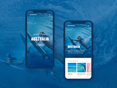 Redesign concept of Neckermann trend 2019 trends trending recent popular clean holiday surfing photos photography journey travel mobile redesign uxui app interaction interaction design animation