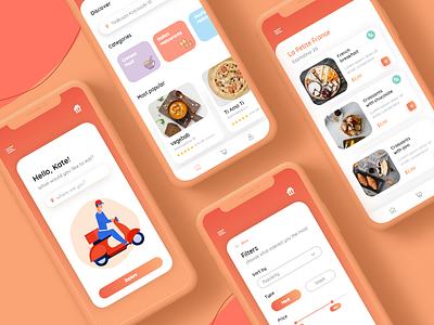 Redesign concept of Takeaway clean app clean design ux ui popular mobile app animation food app food delivery food template trending trend 2019 clean