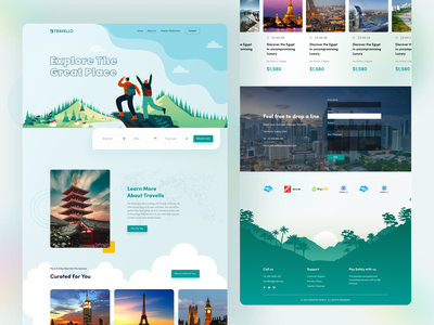 Travel Website Home Page Exploration ux ui creativepeoples agency typography website design web design travel app online agency airbnb online booking booking website travel travel landing page travel web tour poster tour guide travel website travel agency