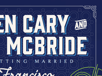 Wedding Website — Intro wedding typography opentype responsive border-image text-shadow shade gin goldenbook nouvelle vague web fonts