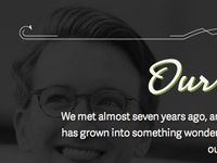 Wedding Website — Section Header