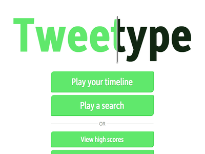 Tweetype Home Screen tweetype twitter games game typing tweet moretype depot new