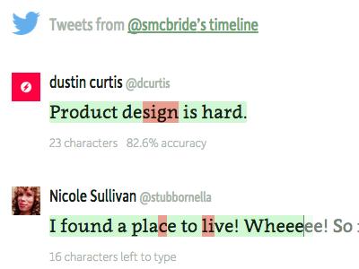 Tweetype Game Detail game games twitter tweet typing tweetype moretype clavo depot new dada studio