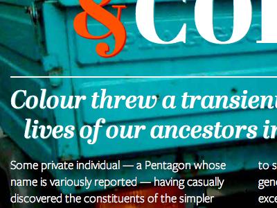 Magazine Spread magazine typekit color didone abril web fonts freight sans