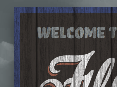 Hand-Painted Sign v2 typekit bello sign mask wood web fonts corner store hand-painted