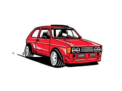 Mk1 Rabbit GTI Illustration car classic car automotive illustration art illustration gti golf volkswagen applepencil ipad pro
